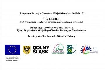Tablica finansowanie przez EFFROW chocianowiec