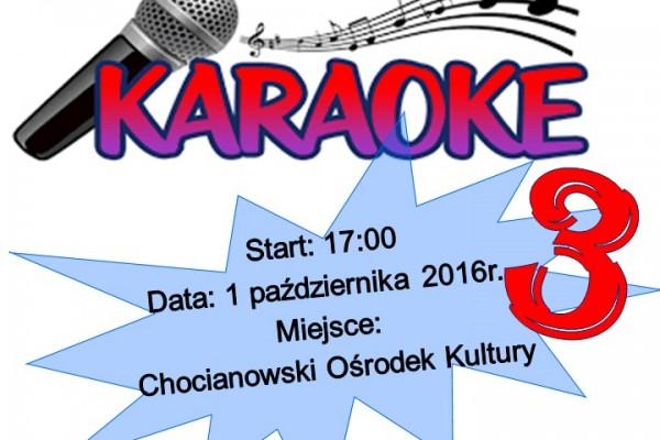 plakat Karaoke 3