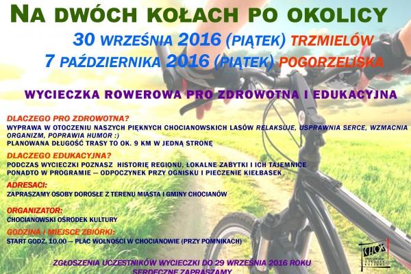 plakat na wycieczke rowerowa