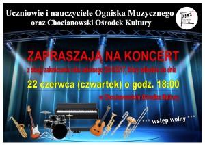 Plakat koncert ogniska czerwiec 2017