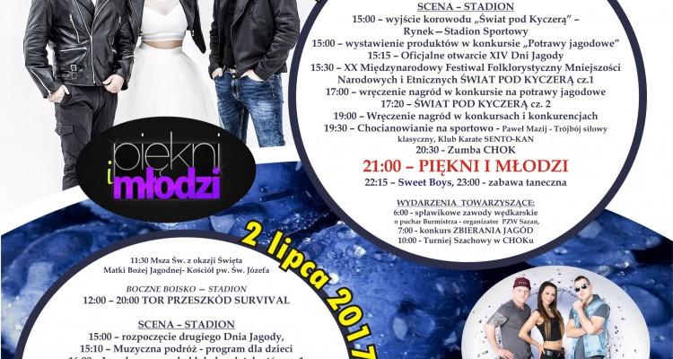 plakat XIV Dzień Jagody